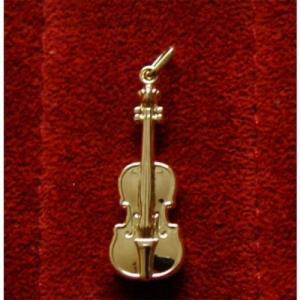 Violine Anhänger echt Gold