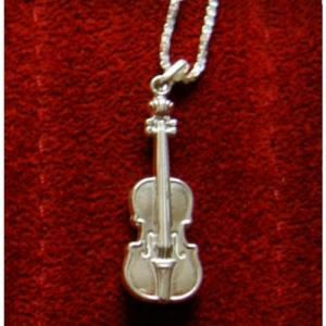 Violine Anhänger echt Silber